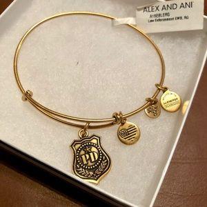 Alex and Ani Law Enforcement Gold Bracelet